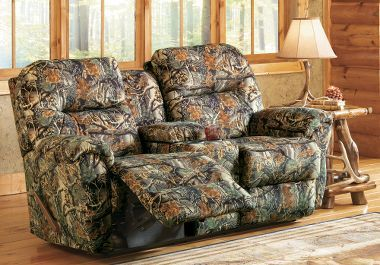 Best Home Furnishings Bodie Camouflage Love Seat With Console