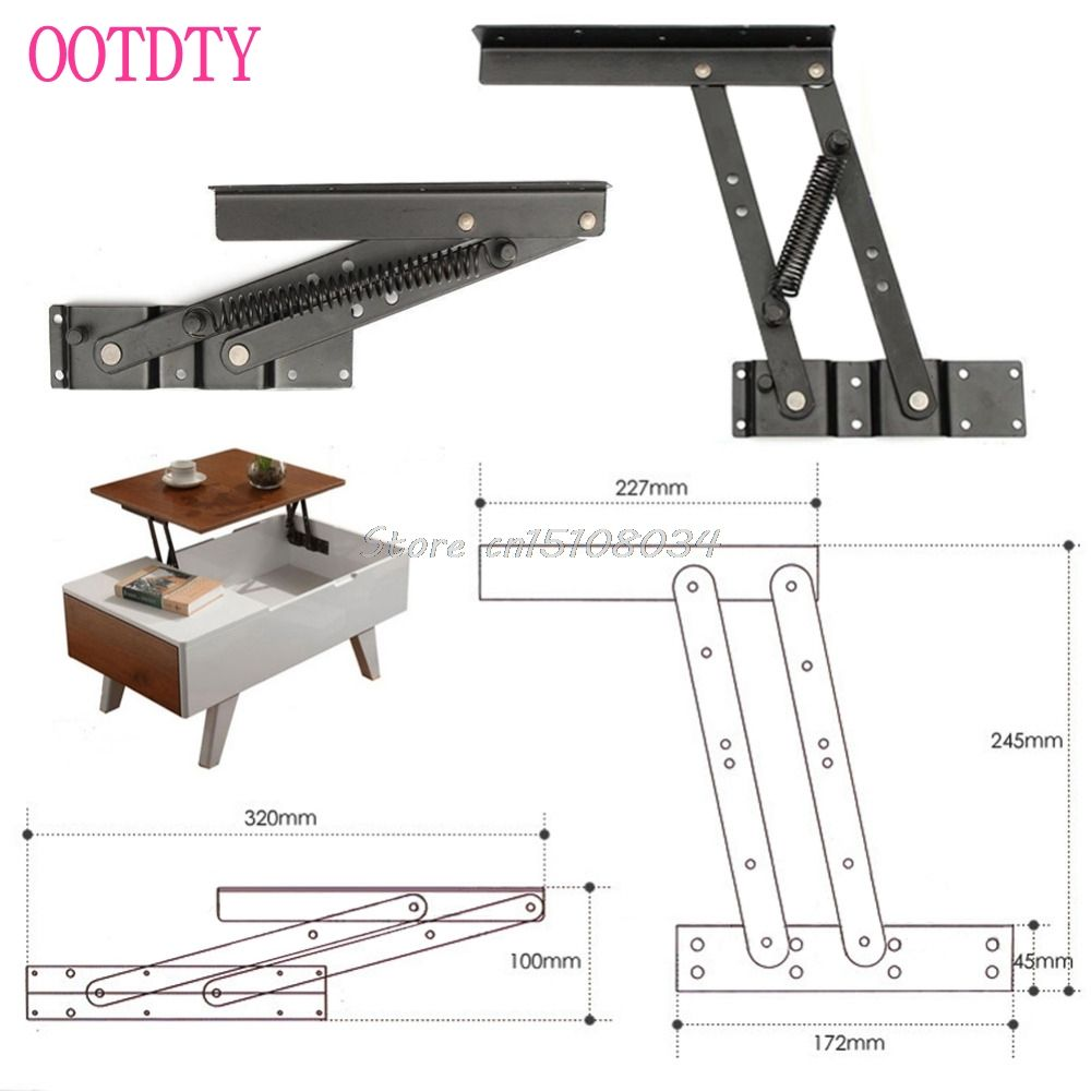 Beau 1Pair Lift Up Top Coffee Table Lifting Frame Mechanism Spring Hinge Hardware  #S018Y# High Quality