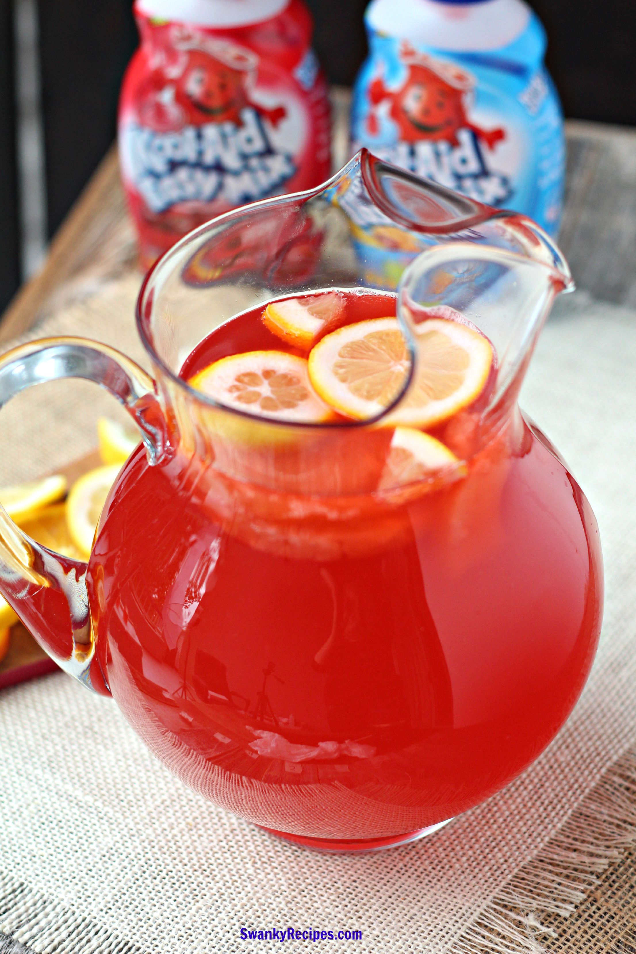 Tropical Cherry Party Punch Swanky Recipes Koolaid Punch Recipe Tropical Punch Recipe Christmas Punch Recipes