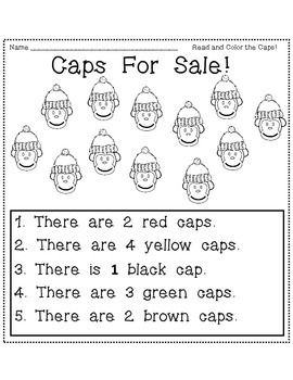 Caps For Sale Math And Literacy Activities Literacy Activities