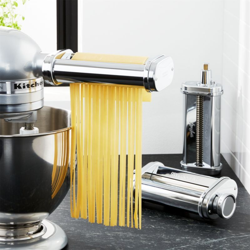 Kitchenaid 3 Piece Pasta Roller And Cutter Set Reviews Crate