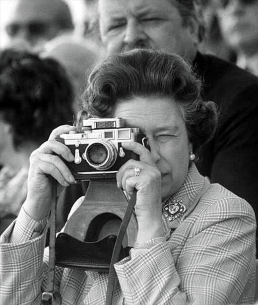 HRH Queen Elizabeth II and her Leica