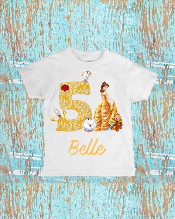 Beauty And The Beast Belle Birthday Shirt Diy