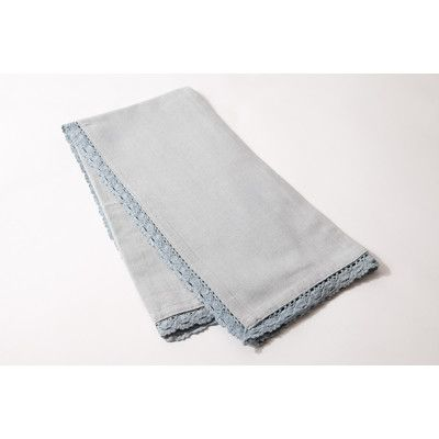 Amity Home Lace Dishcloth Color: Blue