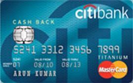 Citibank Cash Back Card Credit