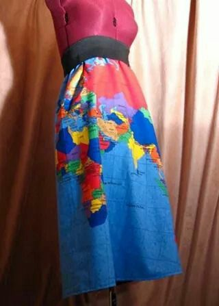 Pin by helloo on maps pinterest world map skirt cute way to teach geography they sell this fabric at jo ann tempted to go get some naow gumiabroncs Images