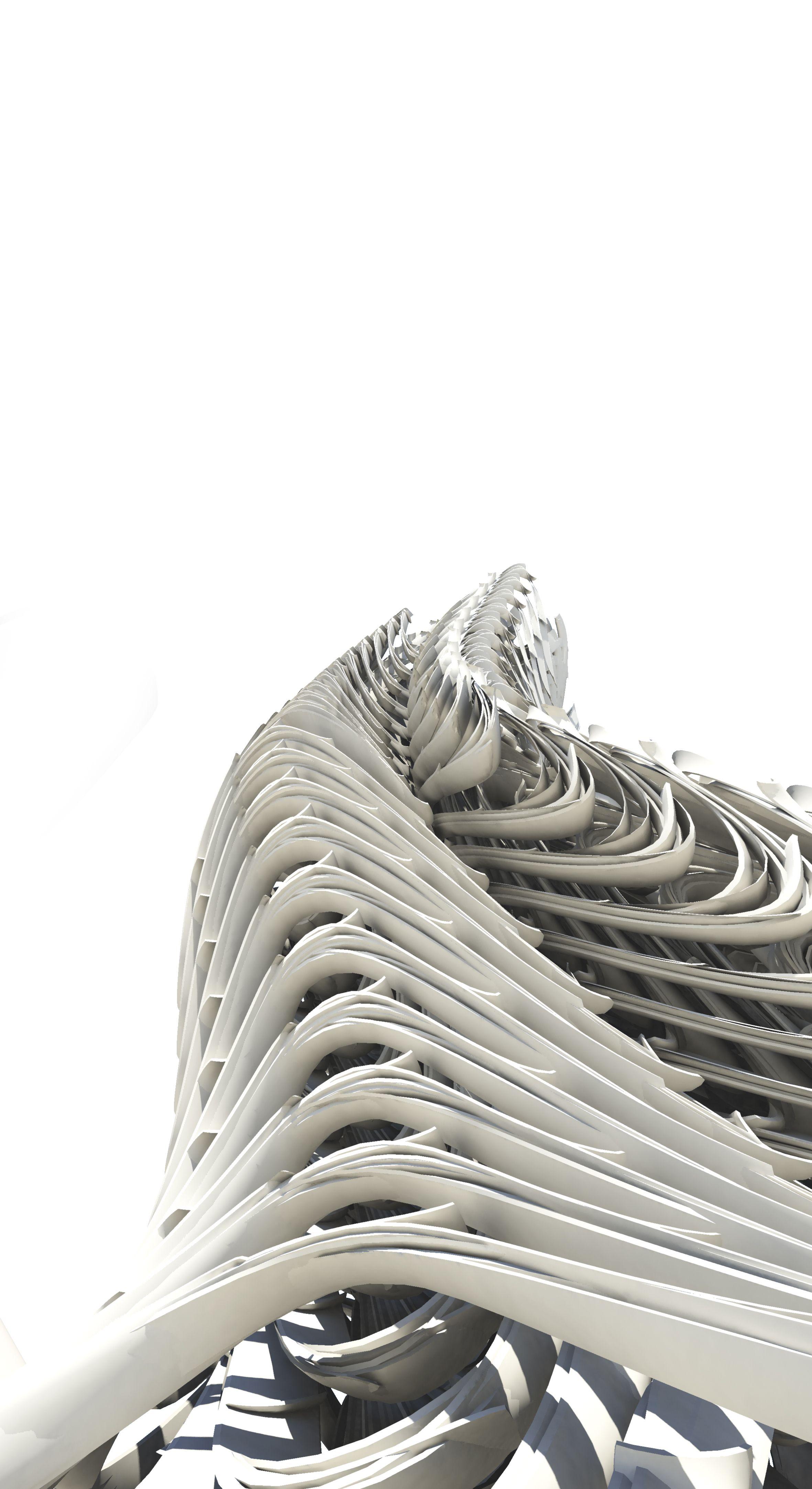 Minimal skeleton roxy rahel studio zaha hadid vienna m s for Parametric architecture zaha hadid