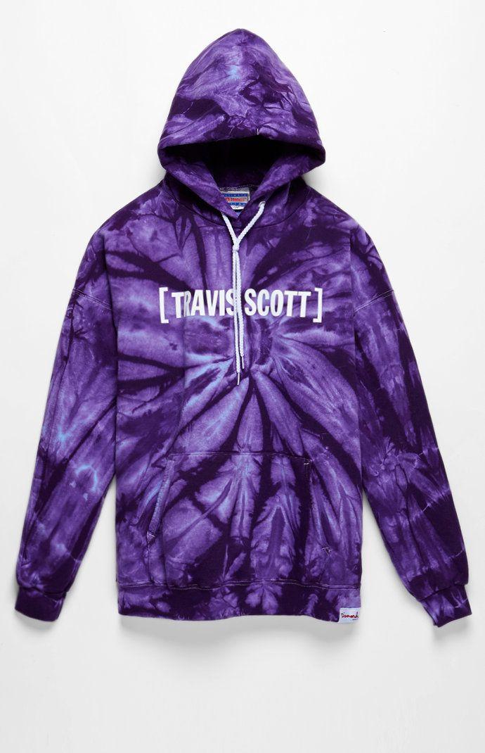 c19af798fcb x Travis Scott Flame Head Tie Dye Pullover Hoodie