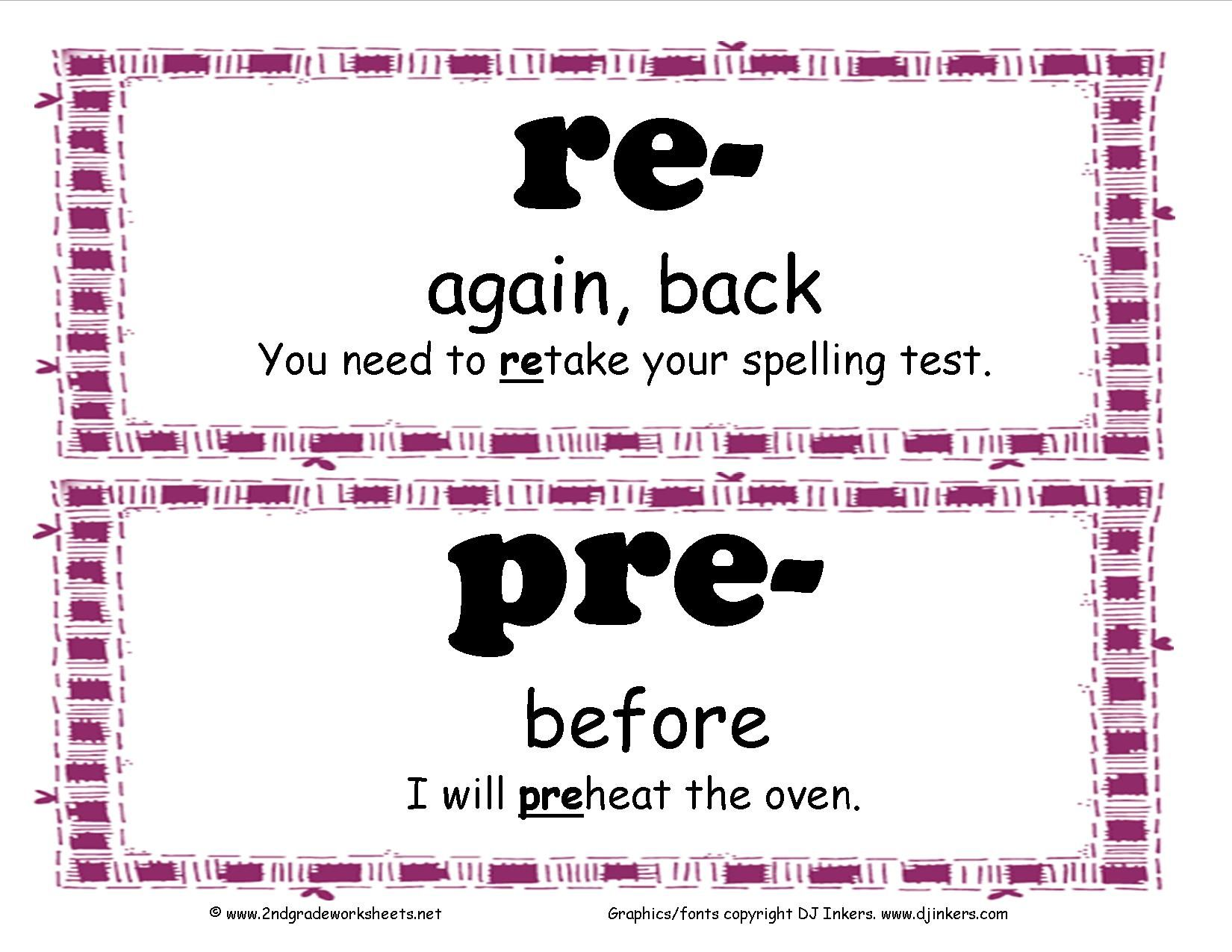 Prefix And Suffix Posters And Worksheets