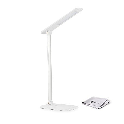 Taotronics Led Desk Lamp Dimmable Flexible Arm 3 Level Dimmer Touch Sensitive Controller Glossy White 6w Click On T Led Desk Lamp Home Improvement Lamp