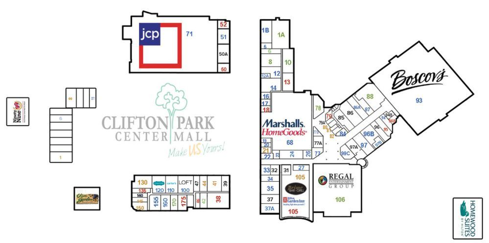 Clifton Park Center Mall Shopping Plan Clifton Park Clifton Mall