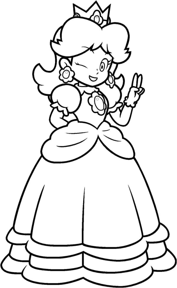 15 Pics Of Mario Princess Coloring Pages Mario Princess