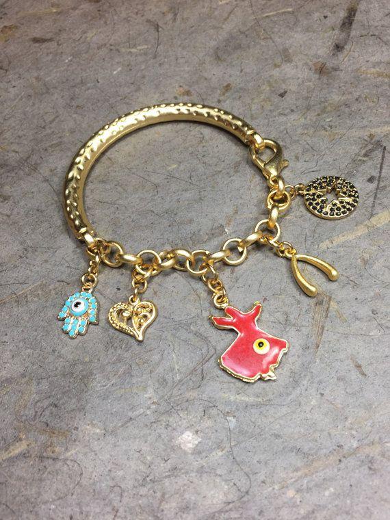 Gold Bangle Bracelet Good Luck Bangle by ConnieHowardCreation