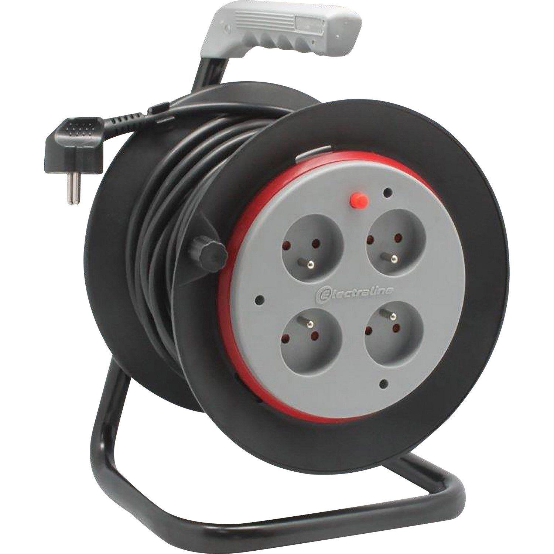 Enrouleur De Cable Electrique Bricolage Avec Terre L 15 M Ho5vvf 3g1 5 Lexman Enrouleur De Cable Cable Electrique Et Bricolage