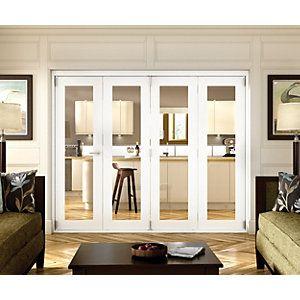 Wickes Belgrave Internal Folding 4 Door Set White Pre-finished 1 Lite 2074 x 2990mm  sc 1 st  Pinterest & Wickes Belgrave Internal Folding 4 Door Set White Pre-finished 1 ...