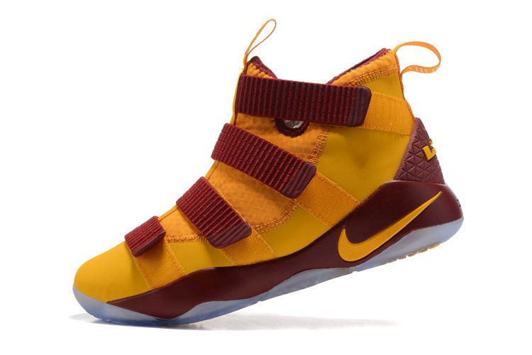 94bcd979fc9 New LeBron James Shoes 2017 New Nike Lebron Soldier 11 XI Home Away CAVS  Gold Burgundy