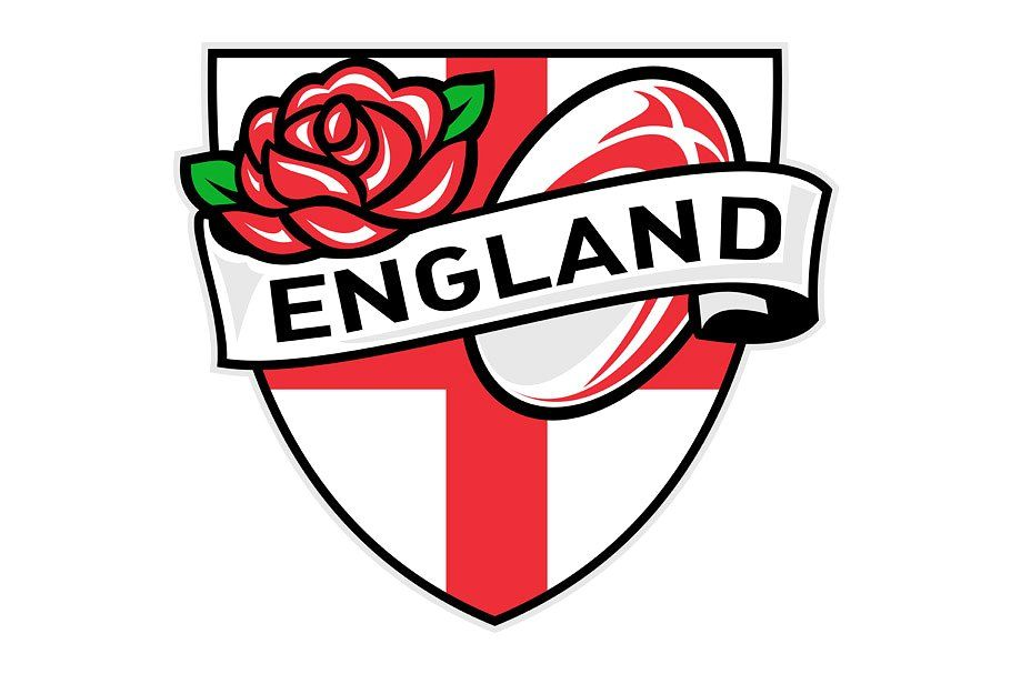 Rugby England English Rose Ball Shie English Roses England Retro Illustration