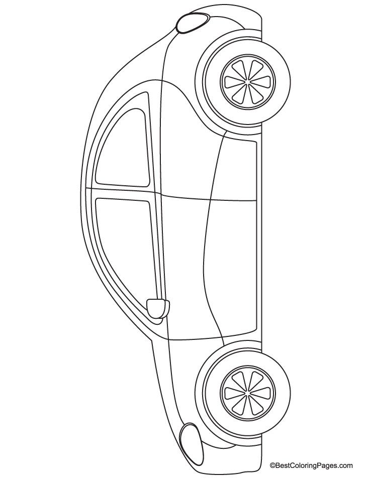 beetle car coloring page download free beetle car coloring page for kids best coloring - Color Page For Kids
