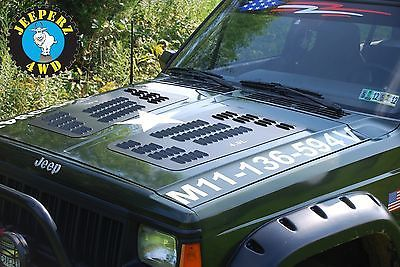 Details About Louvered Hood Panels For Jeep Xj Cherokee Xj Hood