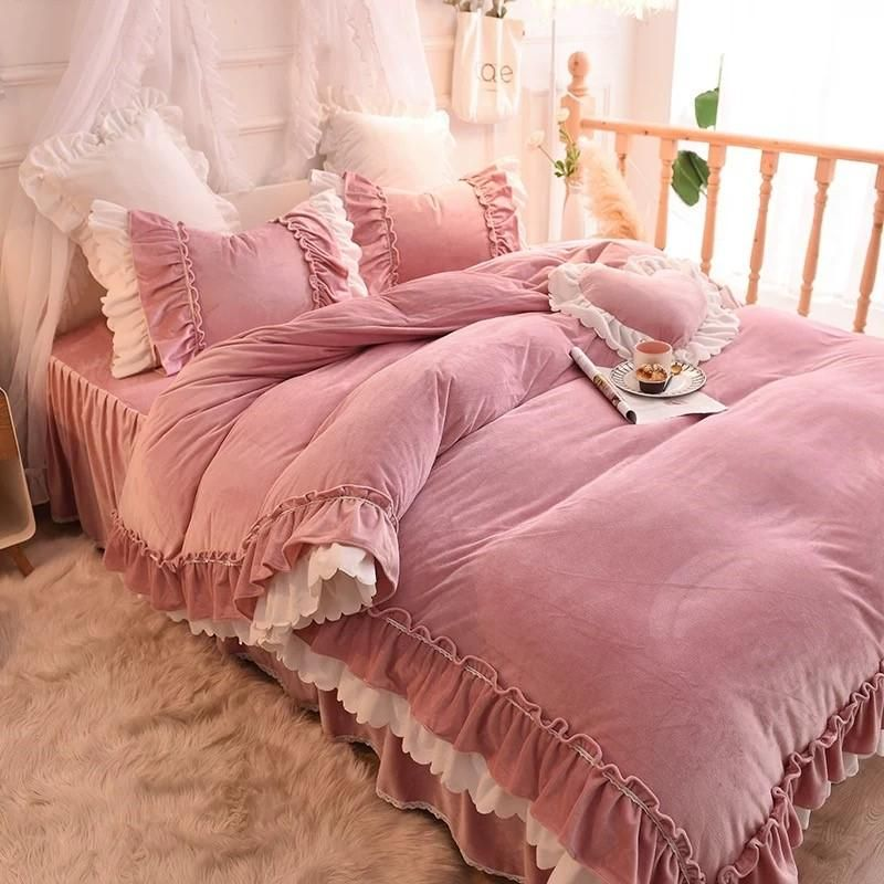 Luxurious Velvet Touch 4 Piece Bedding Set Luxurious Bedrooms Shabby Chic Bedrooms Bedding Sets