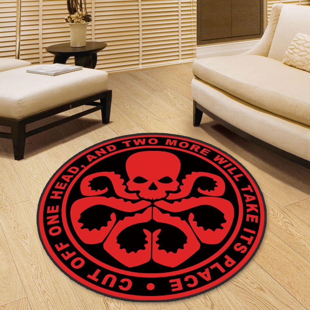 Hydra Marvel Comic Circle Velboa Floor Rug Carpet Room