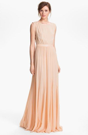 378b39f451 Alice + Olivia  Triss  Leather Trim Maxi Dress available at  Nordstrom
