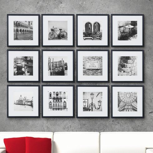 Inexpensive 12 Piece Matted Picture Frame Set With Template For Hanging In A Grid Good Review Gallery Wall Kit Picture Frame Wall Gallery Wall Picture Frames