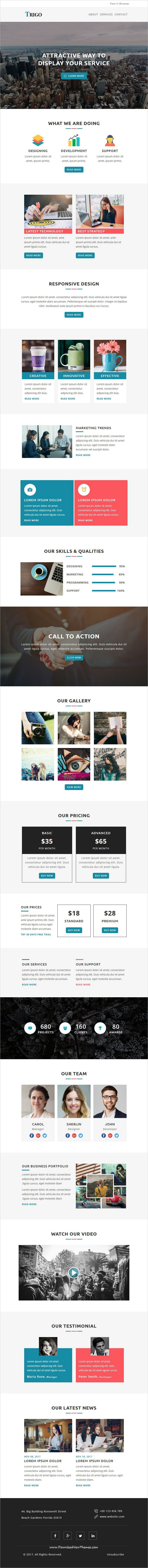 Trigo - Multipurpose Responsive Email Templates with Stamp Ready ...