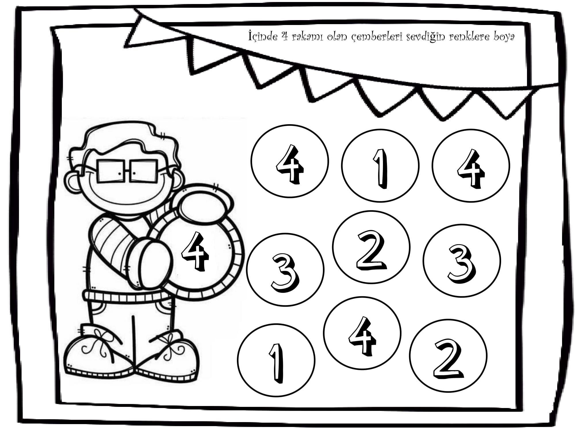 4 Rakamini Tanima Okul Okul Oncesi Matematik