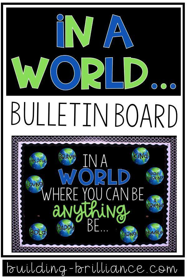 In a World Where You Can Be Anything Bulletin Board Display