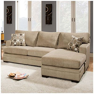 simmons columbia stone sofa with reversible chaise at big lots - Big Lots Living Room Furniture