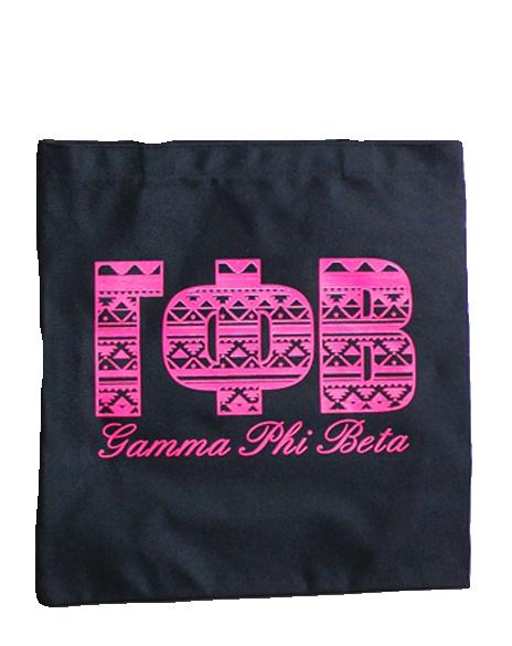 Gamma Phi Beta Tribal Tote by Adam Block Design | Custom Greek Apparel & Sorority Clothes | www.adamblockdesign.com