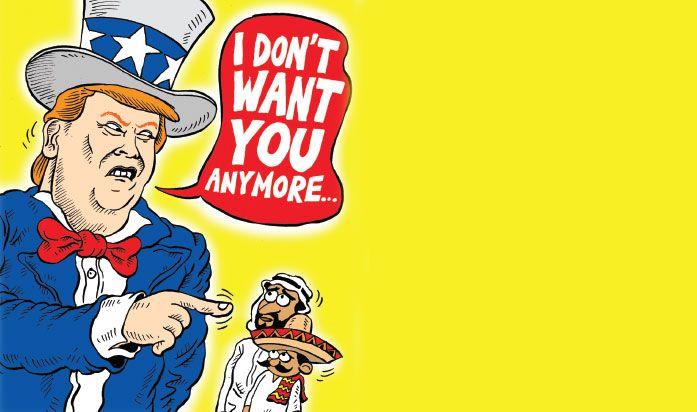 Kartun Politik Mice Cartoon November 2016 Usir Imigran Kartun