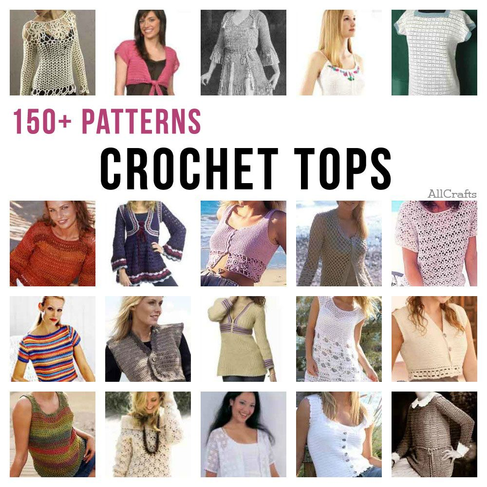 Crochet Tops – 150+ Free Patterns | Knitting clothes | Pinterest