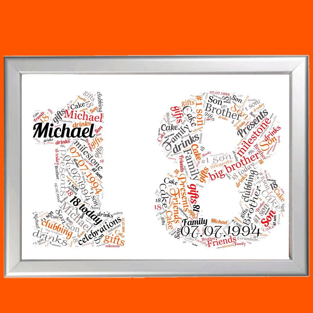 Details about personalised birthday gift 18 18th eighteen