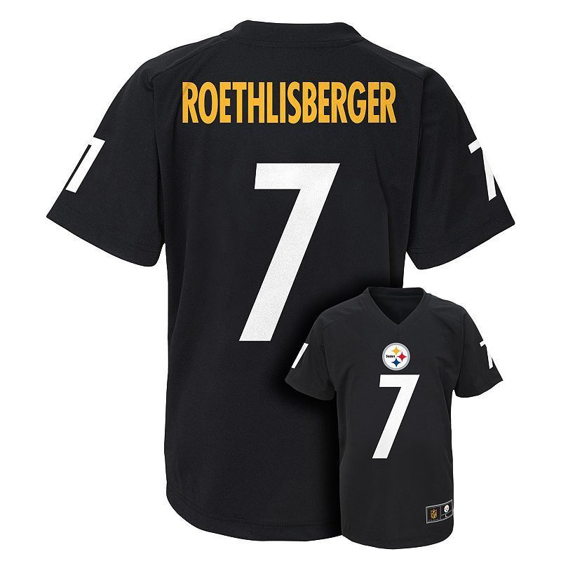 Boys 8-20 Pittsburgh Steelers Ben Roethlisberger Replica Jersey, Boy's, Size: Xl(18/20), Black