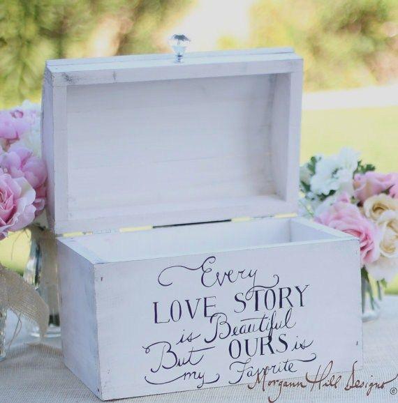 wedding card box shabby chic decor vintage inspired hand painted rh pinterest ca