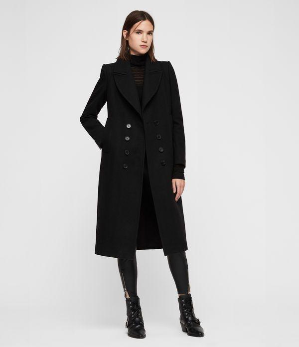 Long Black Wool Coat Womens Uk Promotions, Womens Black Wool Coats Uk