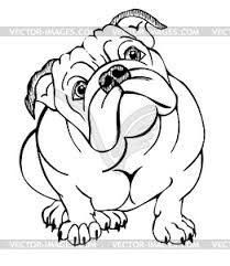 Coloriage Bouledogue Anglais.Image Result For English Bulldog Line Drawing Bidon Perros