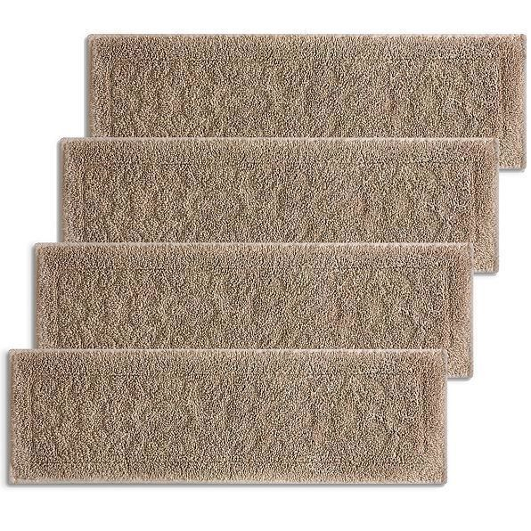 Best 29 Taupe Decorative Embossed Stair Treads Set Of 4 Indoor 400 x 300