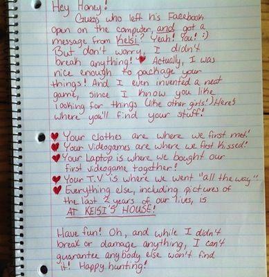 e jilted girlfriend s breakup letter that sent her cheating