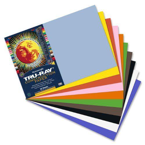 Tru-Ray Construction Paper 10 Classic Colors 12 x 18 50 Sheets