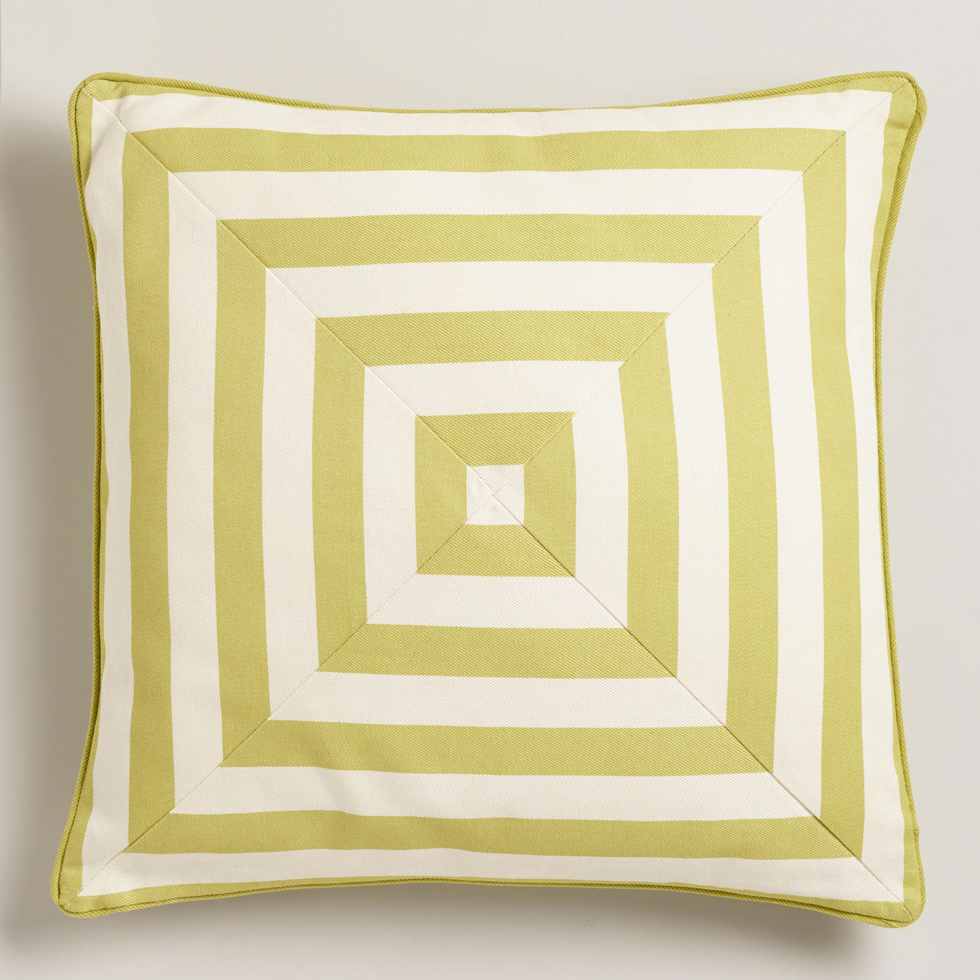Oasis Green Stripe Throw Pillow | World Market $20 | For the ...