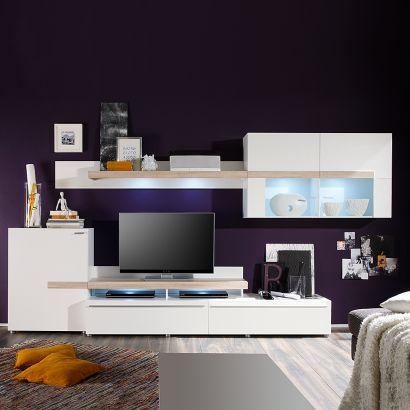 Wohnwand Wohnzimmerideen Pinterest Wohndeko, Vorteile und Eiche - wohnzimmer ideen eiche