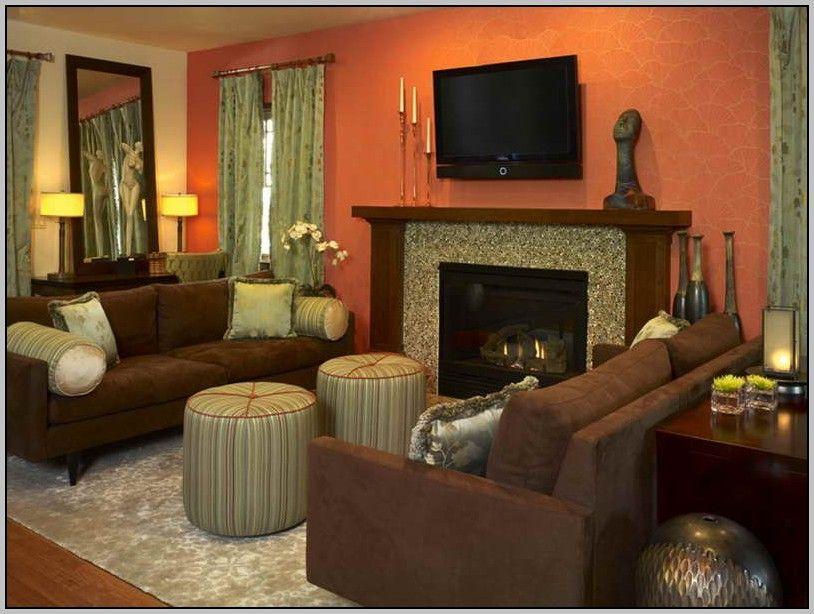 living room color schemes dark brown furniture