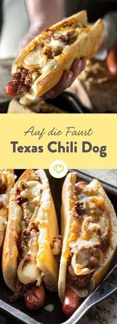 Auf die Faust – Texas Chili Dog #obstgemüse