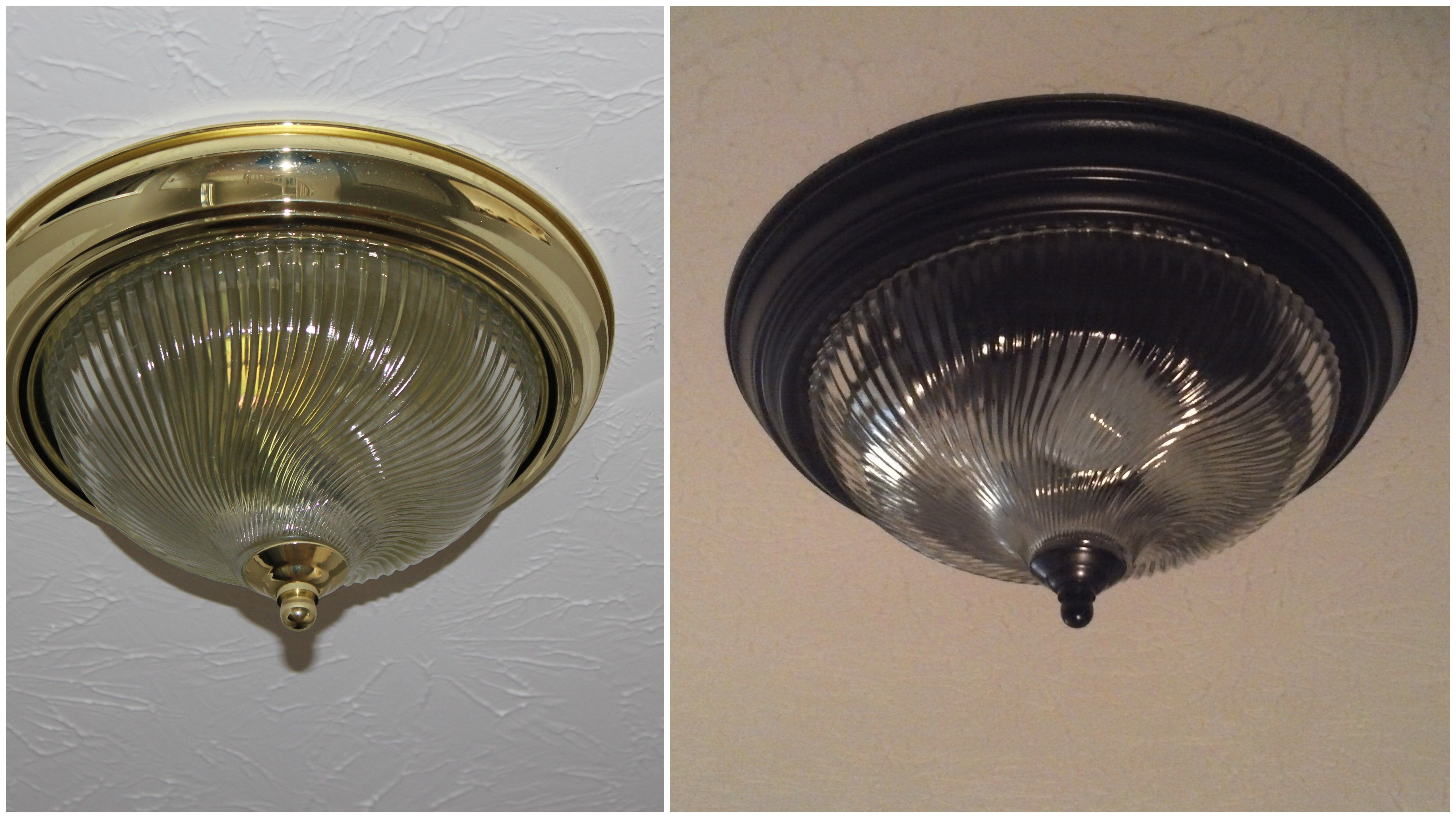 Before And Afterspray Paint Old Brass Light Fixtures With Krylon