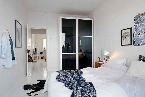 Slaapkamer Scandinavische Stijl : Witte slaapkamer in een scandinavische stijl slaapkamer wit