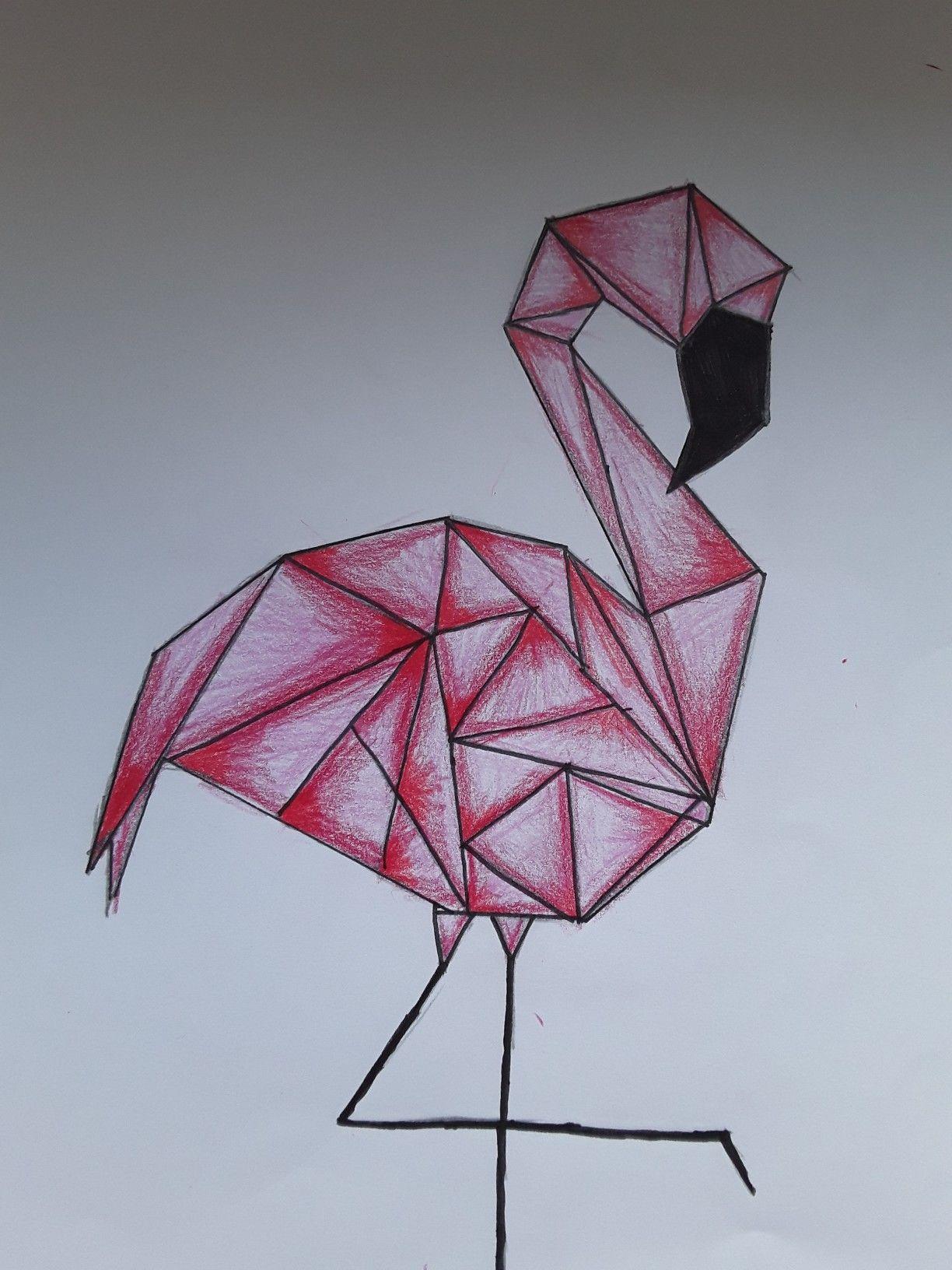 Geometrische Form Nach Gemalt In 2020 Malen Und Zeichnen Einfach Zeichnen Malen Lernen