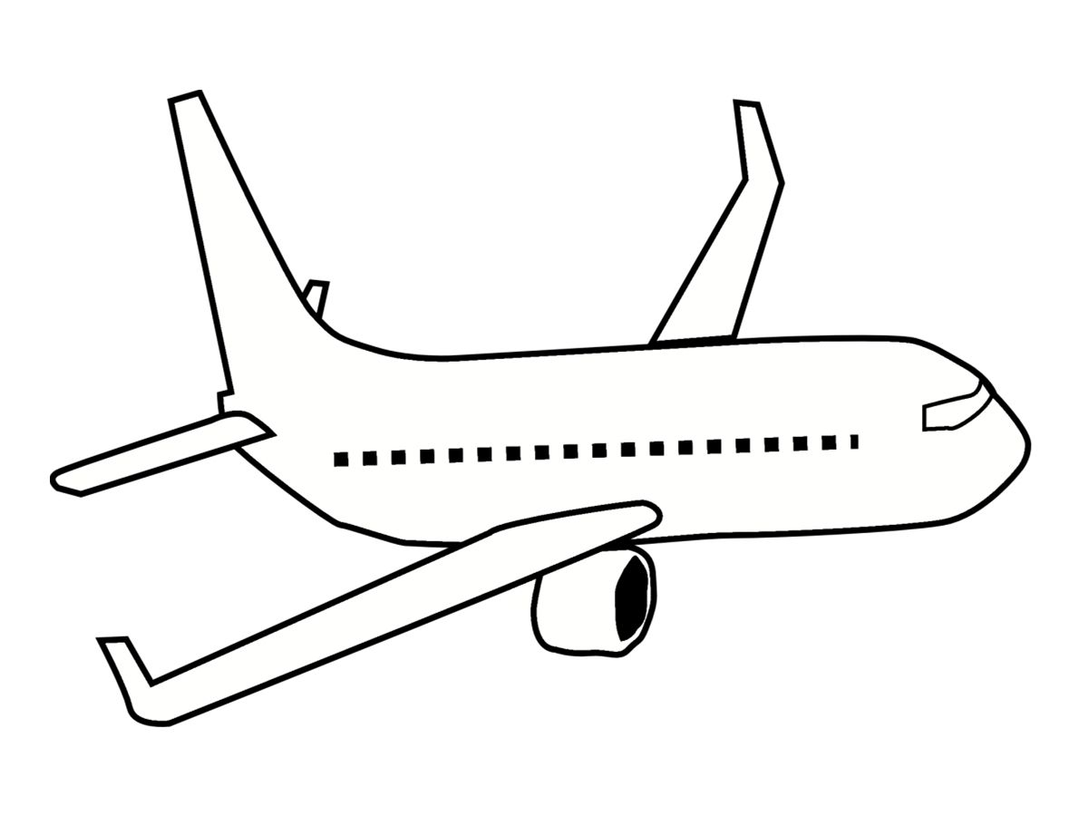 Coloriage De Avion